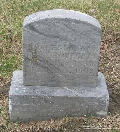 BRONESKA, BRONISLAWA - Lucas County, Ohio | BRONISLAWA BRONESKA - Ohio Gravestone Photos