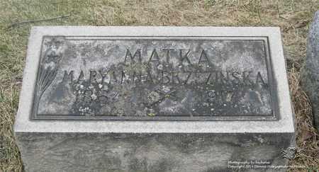 BRZEZINSKA, MARYANNA - Lucas County, Ohio   MARYANNA BRZEZINSKA - Ohio Gravestone Photos