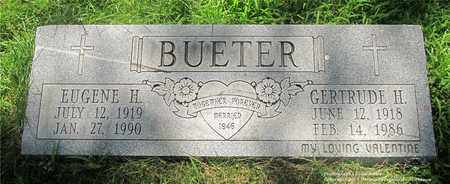 BUETER, GERTRUDE H. - Lucas County, Ohio | GERTRUDE H. BUETER - Ohio Gravestone Photos