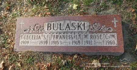 BULASKI, FRANCIS L. - Lucas County, Ohio | FRANCIS L. BULASKI - Ohio Gravestone Photos