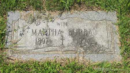 BURBA, MARTHA - Lucas County, Ohio | MARTHA BURBA - Ohio Gravestone Photos