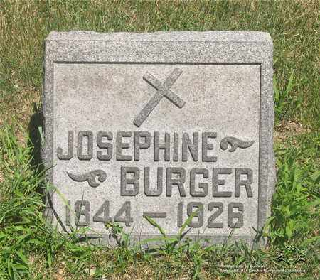 BURGER, JOSEPHINE - Lucas County, Ohio | JOSEPHINE BURGER - Ohio Gravestone Photos