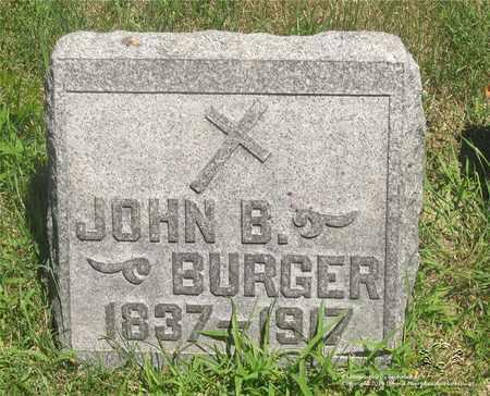 BURGER, JOHN B. - Lucas County, Ohio   JOHN B. BURGER - Ohio Gravestone Photos