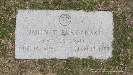 BURZYNSKI (MILITARY STONE), JOHN T. - Lucas County, Ohio | JOHN T. BURZYNSKI (MILITARY STONE) - Ohio Gravestone Photos