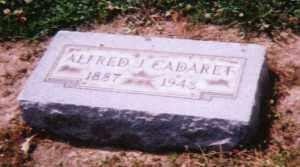 CADARET, ALFRED JOSEPH - Lucas County, Ohio   ALFRED JOSEPH CADARET - Ohio Gravestone Photos