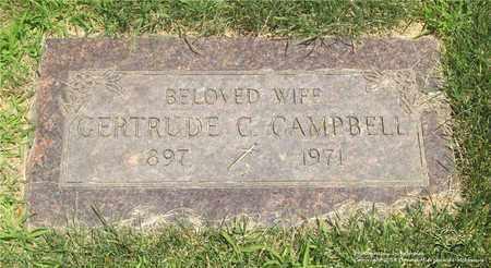 YENOR CAMPBELL, GERTRUDE C. - Lucas County, Ohio   GERTRUDE C. YENOR CAMPBELL - Ohio Gravestone Photos