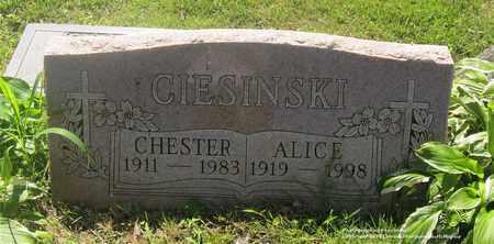 CIESINSKI, CHESTER - Lucas County, Ohio | CHESTER CIESINSKI - Ohio Gravestone Photos