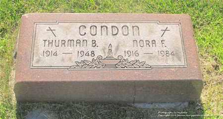 CONDON, THURMAN B. - Lucas County, Ohio | THURMAN B. CONDON - Ohio Gravestone Photos