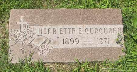 CORCORAN, HENRIETTA E. - Lucas County, Ohio | HENRIETTA E. CORCORAN - Ohio Gravestone Photos