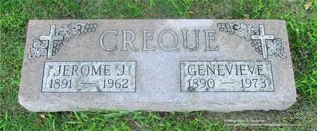 CREQUE, GENEVIEVE - Lucas County, Ohio   GENEVIEVE CREQUE - Ohio Gravestone Photos