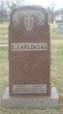CZAPLINSKI, BERTHA - Lucas County, Ohio | BERTHA CZAPLINSKI - Ohio Gravestone Photos