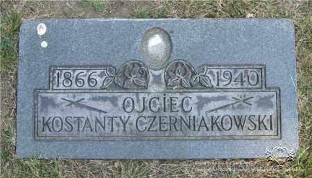 CZERNIAKOWSKI, KOSTANTY - Lucas County, Ohio | KOSTANTY CZERNIAKOWSKI - Ohio Gravestone Photos