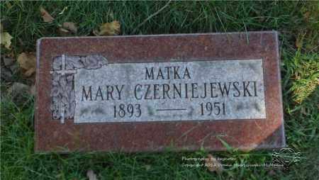 LANGA CZERNIEJEWSKI, MARY - Lucas County, Ohio   MARY LANGA CZERNIEJEWSKI - Ohio Gravestone Photos
