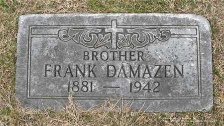DAMAZYN, FRANK - Lucas County, Ohio | FRANK DAMAZYN - Ohio Gravestone Photos