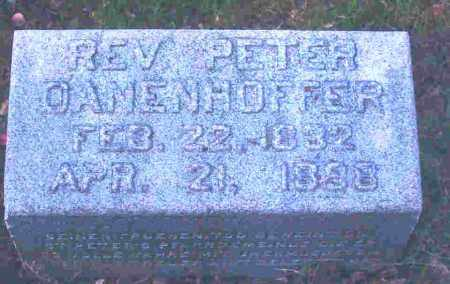 DANENHOFFER, REV. PETER - Lucas County, Ohio | REV. PETER DANENHOFFER - Ohio Gravestone Photos