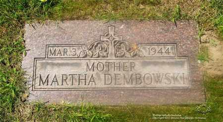 DEMBOWSKI, MARTHA - Lucas County, Ohio | MARTHA DEMBOWSKI - Ohio Gravestone Photos