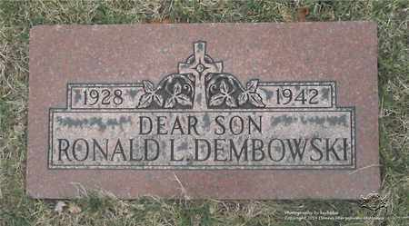 DEMBOWSKI, RONALD L. - Lucas County, Ohio | RONALD L. DEMBOWSKI - Ohio Gravestone Photos