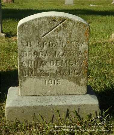 DEMSKA, ANNA - Lucas County, Ohio   ANNA DEMSKA - Ohio Gravestone Photos