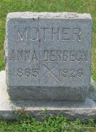 IMHOF DERBECK, ANNA - Lucas County, Ohio | ANNA IMHOF DERBECK - Ohio Gravestone Photos
