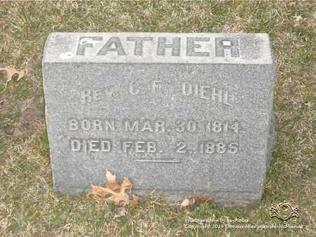 DIEHL, C.F. - Lucas County, Ohio | C.F. DIEHL - Ohio Gravestone Photos