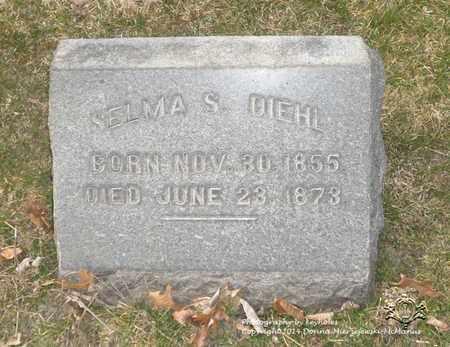 DIEHL, SELMA S. - Lucas County, Ohio | SELMA S. DIEHL - Ohio Gravestone Photos