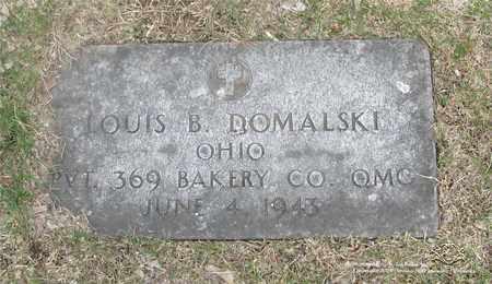 DOMALSKI, LOUIS B. - Lucas County, Ohio | LOUIS B. DOMALSKI - Ohio Gravestone Photos