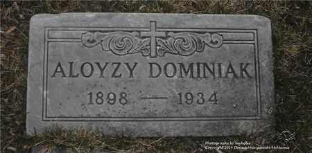 DOMINIAK, ALOYZY - Lucas County, Ohio   ALOYZY DOMINIAK - Ohio Gravestone Photos