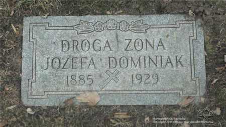 DOMINIAK, JOZEFA - Lucas County, Ohio | JOZEFA DOMINIAK - Ohio Gravestone Photos