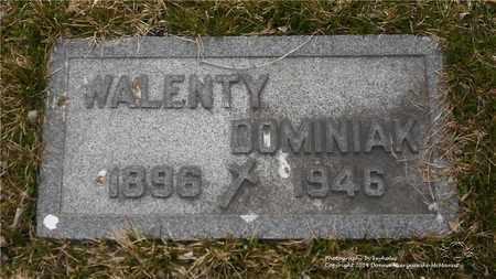 DOMINIAK, WALENTY - Lucas County, Ohio | WALENTY DOMINIAK - Ohio Gravestone Photos