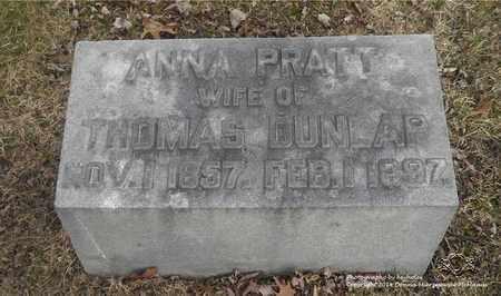 DUNLAP, ANNA - Lucas County, Ohio   ANNA DUNLAP - Ohio Gravestone Photos