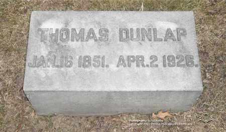DUNLAP, THOMAS - Lucas County, Ohio | THOMAS DUNLAP - Ohio Gravestone Photos