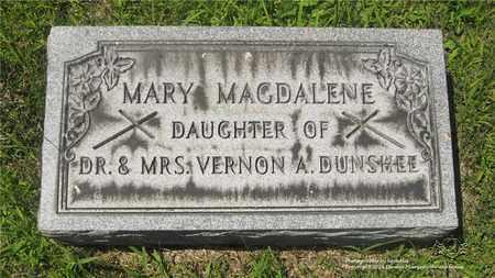 DUNSHEE, MARY MAGDALENE - Lucas County, Ohio   MARY MAGDALENE DUNSHEE - Ohio Gravestone Photos