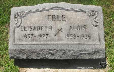 EBLE, ALOIS - Lucas County, Ohio | ALOIS EBLE - Ohio Gravestone Photos