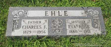EHLE, CHARLES F. - Lucas County, Ohio | CHARLES F. EHLE - Ohio Gravestone Photos