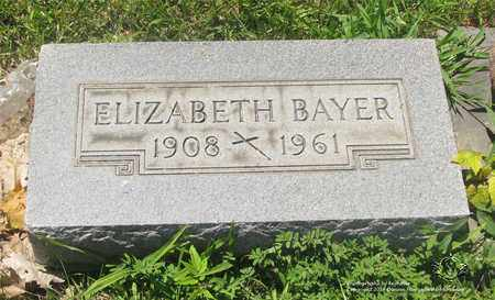 BAYER, ELIZABETH - Lucas County, Ohio | ELIZABETH BAYER - Ohio Gravestone Photos