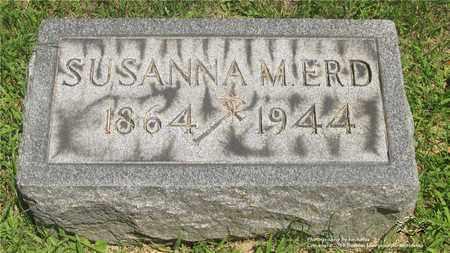 ERD, SUSANNA M. - Lucas County, Ohio | SUSANNA M. ERD - Ohio Gravestone Photos