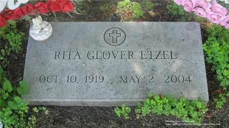 GLOVER ETZEL, RITA - Lucas County, Ohio | RITA GLOVER ETZEL - Ohio Gravestone Photos