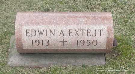 EXTEJT, EDWIN A. - Lucas County, Ohio | EDWIN A. EXTEJT - Ohio Gravestone Photos