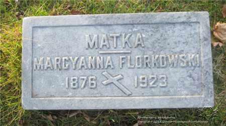 FLORKOWSKI, MARCYANNA - Lucas County, Ohio   MARCYANNA FLORKOWSKI - Ohio Gravestone Photos