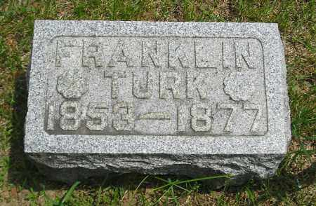 TURK, FRANKLIN - Lucas County, Ohio   FRANKLIN TURK - Ohio Gravestone Photos