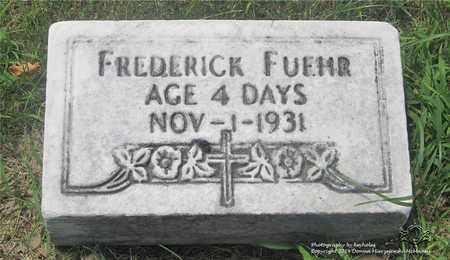 FUEHR, FREDERICK - Lucas County, Ohio   FREDERICK FUEHR - Ohio Gravestone Photos