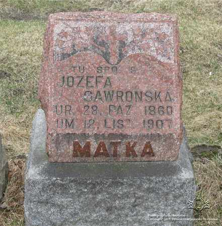 DEMPCZAK GAWRONSKA, JOZEFA - Lucas County, Ohio   JOZEFA DEMPCZAK GAWRONSKA - Ohio Gravestone Photos