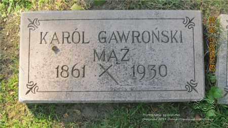 GAWRONSKI, KAROL (KARL) - Lucas County, Ohio | KAROL (KARL) GAWRONSKI - Ohio Gravestone Photos