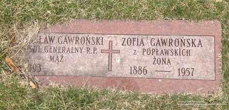 POPLAWSKI GAWRONSKA, ZOFIA - Lucas County, Ohio | ZOFIA POPLAWSKI GAWRONSKA - Ohio Gravestone Photos