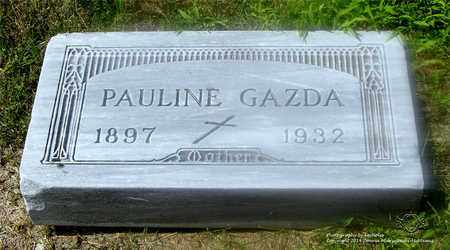 KNAPA GAZDA, PAULINE - Lucas County, Ohio   PAULINE KNAPA GAZDA - Ohio Gravestone Photos