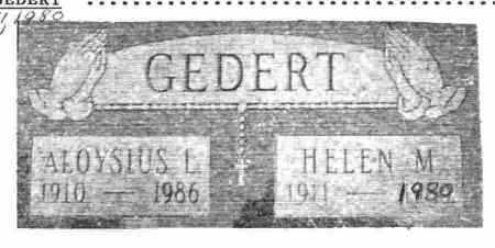 GEDERT, HELEN M. - Lucas County, Ohio | HELEN M. GEDERT - Ohio Gravestone Photos