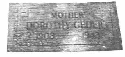 GEDERT, DOROTHY ADELAIDE - Lucas County, Ohio | DOROTHY ADELAIDE GEDERT - Ohio Gravestone Photos