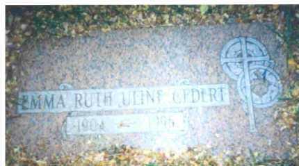 ULINE GEDERT, EMMA R. - Lucas County, Ohio | EMMA R. ULINE GEDERT - Ohio Gravestone Photos