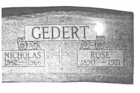 GEDERT, NICHOLAS JOSEPH - Lucas County, Ohio | NICHOLAS JOSEPH GEDERT - Ohio Gravestone Photos