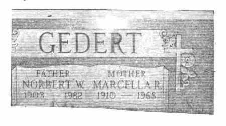 GEDERT, MARCELLA R. - Lucas County, Ohio | MARCELLA R. GEDERT - Ohio Gravestone Photos